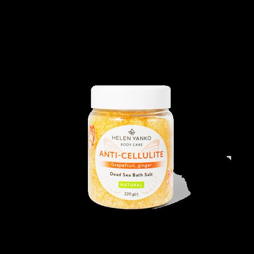 Сіль для вани Мертвого моря Антицелюлітна Dead Sea Bath Salt ANTI CELLULITE (Grapefruit, Ginger)