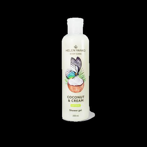 Гель для душу Кокос та Вершки (безсульфатний) Shower Gel Coconut&Cream, 250мл